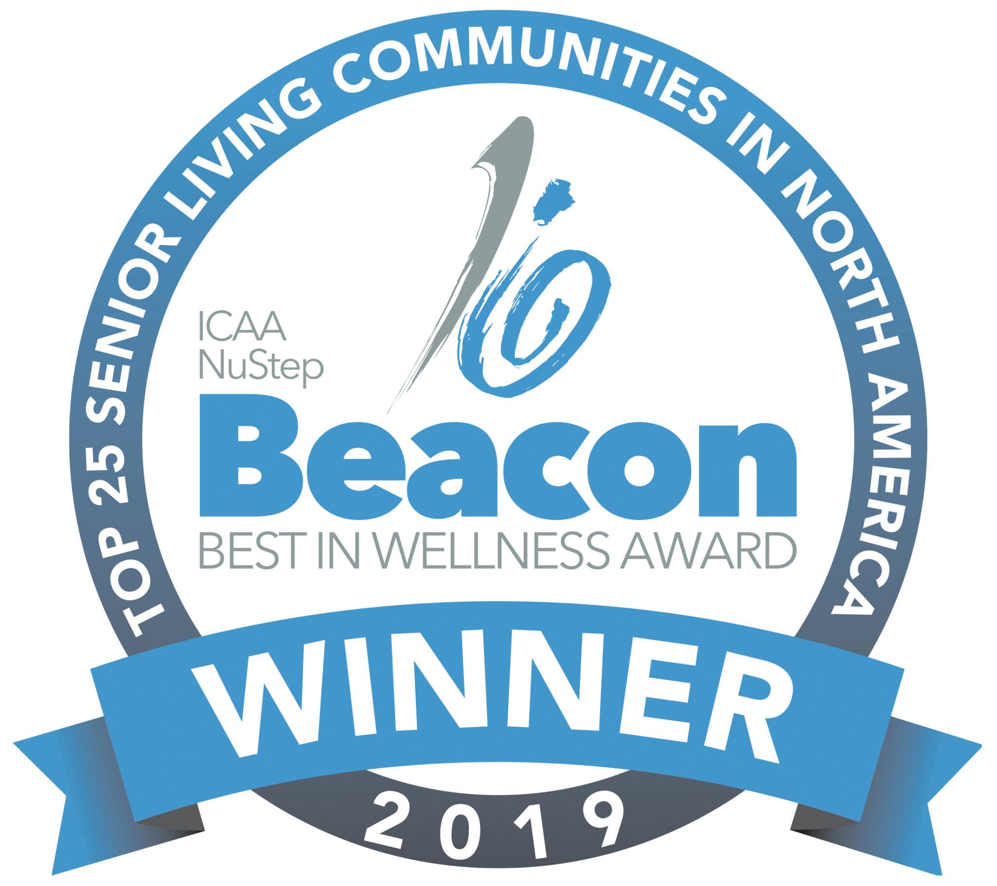 2019 Beacon Best in Wellness Award for senior living communities